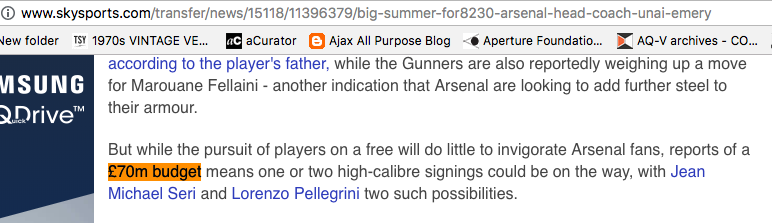 transfers arsenal sky