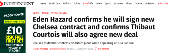 hazard chelsea the sun real madrid