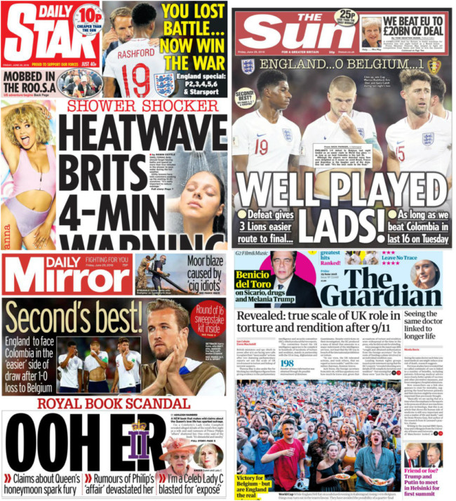 england world cup belgium newspapers