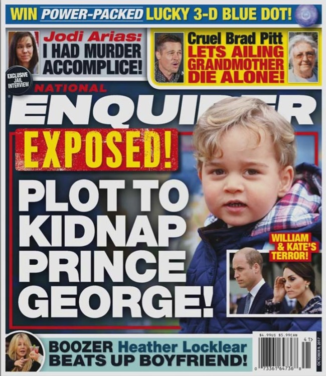 national enquirer prince george kidnap