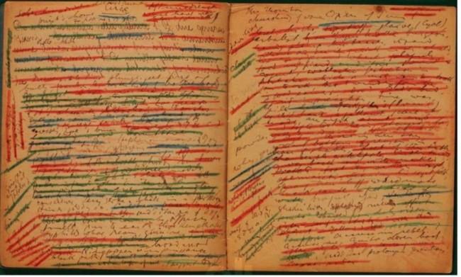 ulysses-manuscript joyce crayon