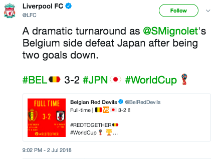 mingolet liverpool world cup