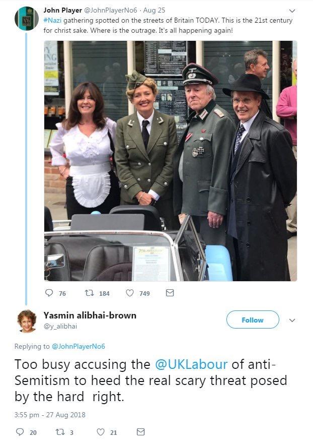 Yasmin Alibhai-Brown allo allo nazis
