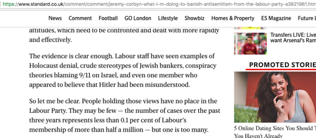 jeremy corbyn copy and past jews