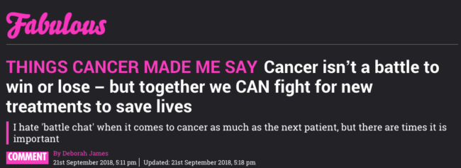 battle cancer
