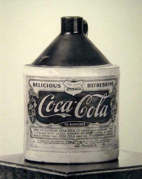 Released in 1880, this is the very first publicly sold bottle of Coca-Cola. It contained around 3.5 grams of cocaine.