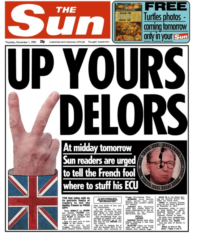 up yours delors Bexit