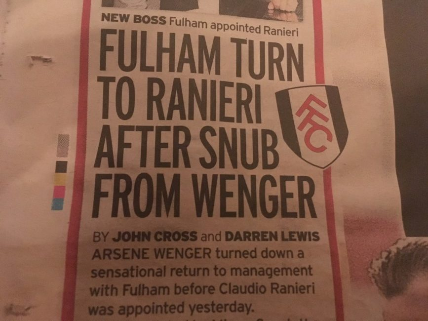 Ranieri the mirror fulham