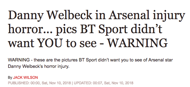 arsenal danny welbeck bt daily express