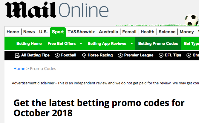 daily mail gambling