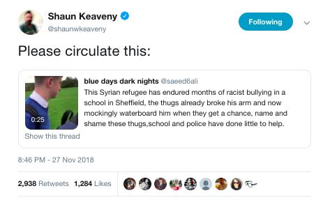 bully-syrian student huddersfield