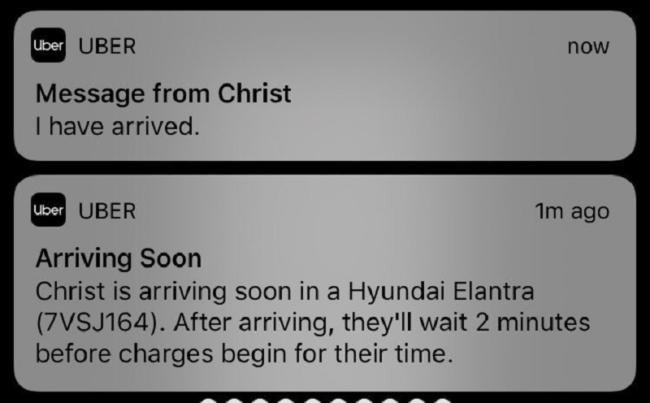Uber Christ I have arrived