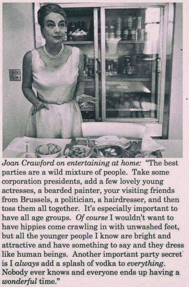 Joan Crawford holiday tips hippies