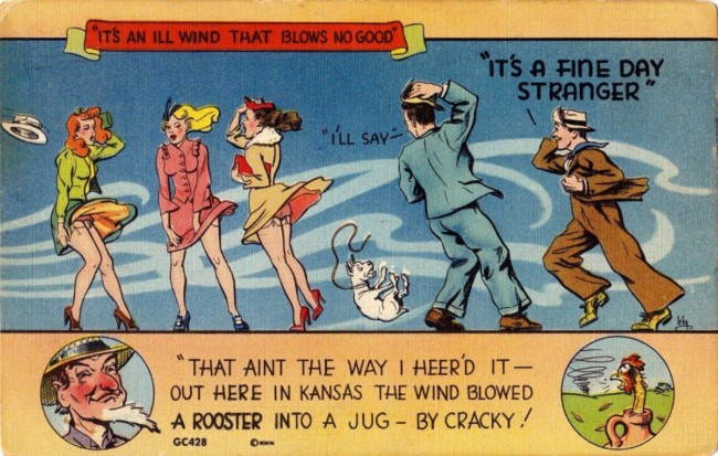 sexy sexist postcard vintage