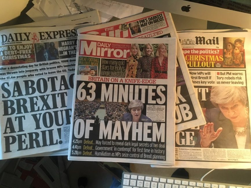Brexit vote theresa may tabloids