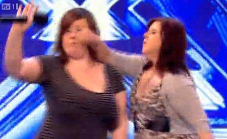Abbey Johnston and Lisa Parker X Factor Fight Video: Abbey Johnston Punches Lisa Parker 