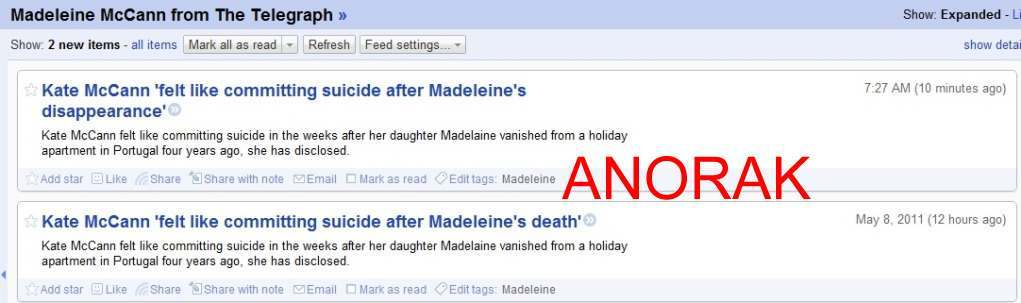 Telegraph mccann Daily Telegraph Says Madeleine McCann Is Dead