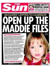 The Sun newspaper front page1 Madeleine McCann: As A Dad David Cameron Has To Find Our Maddie