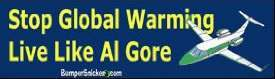 al gore sticker1 Not In My Back Yard: WWF Conservationist Cuts Down Trees And Flies