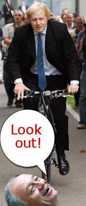 boris johnson bike Daily Mirror Politically Neutral Comment Of The Day: Livingstone And Tories