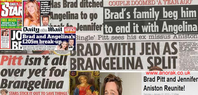 Brad Pitt Jennifer Aniston Breakup. BRAD Pitt and Angelina Jolie