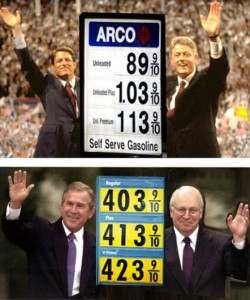 bush gore petrol crisis 250x300 Earth Friend Bush And Al Gore For Cheap Petrol