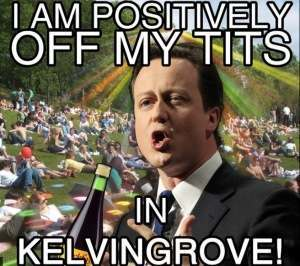 cameron says yes The Kelvingrove Park Royal Wedding Riot Was Against State Control: Photos