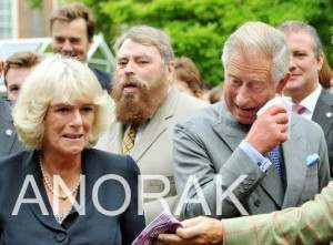 charles camilla 300x221 Charles Enjoys The Cat Organ As Camilla Sews (Photos)