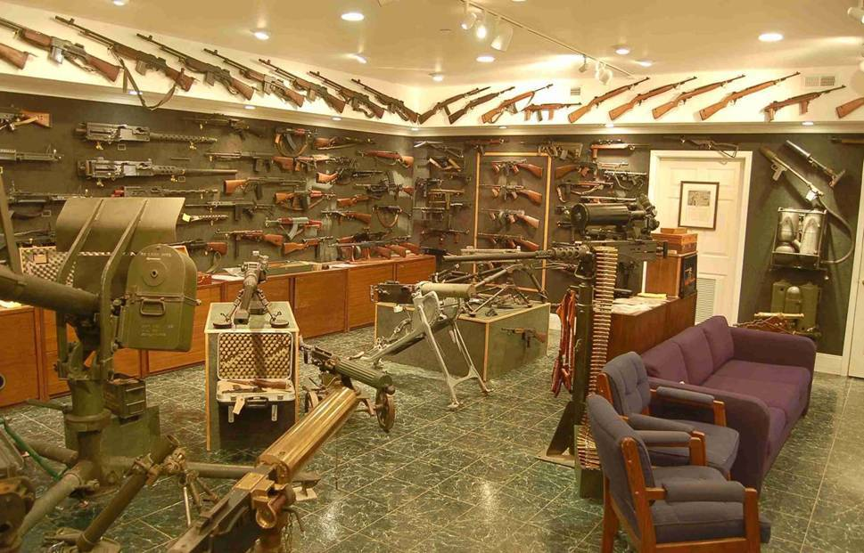 Charlton heston s home gun collection