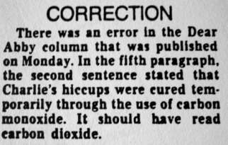 corection
