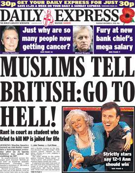 daily mail islamophobia headlines for dating