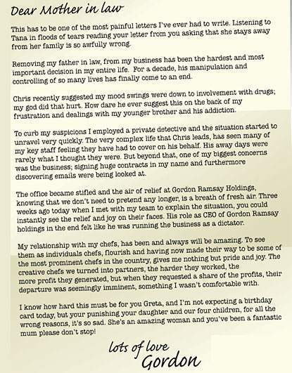 Anorak   Gordon Ramsay's Open Letter To His Mother In Law In Full ...