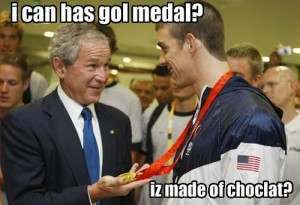 i can haz chocolat 300x205 George Bush Lol Medal