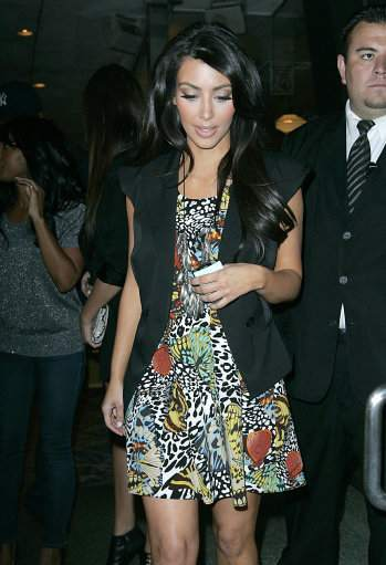 Kim Kardashian leaves a Party held at Mel's Diner on July 7, 2009 in West Hollywood, California.
