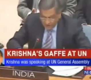 krishna UN Indian Minister Reads Portuguese Foreign Ministers Speech: This Is The Future Of Democracy