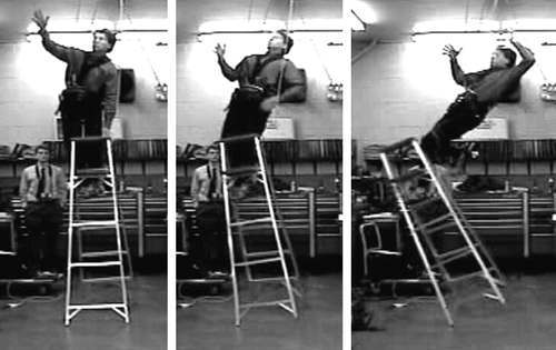 ladder fall Health And Safety Inspector Falls From Ladder