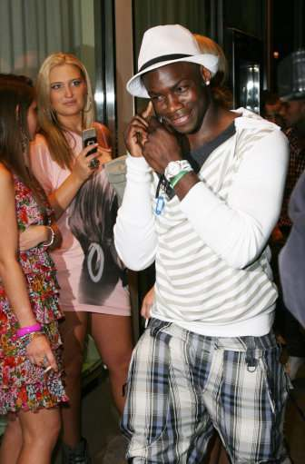 Micah Richards attends Panacea nightclub in Manchester during the Manchester City end of season party.