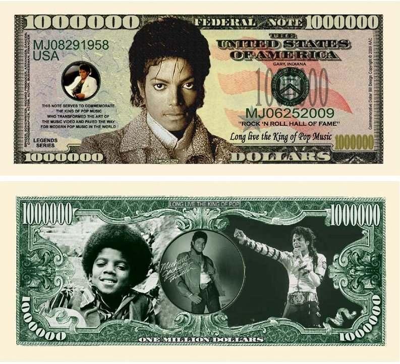 Michael Jackson Dollar Bill