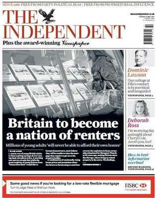 mortgage indy Independent Forgets HSBC In News That UK Is A Nation Of Renters