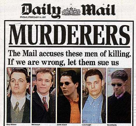 murderers Stephen Lawrence Murder: The Racist Lovable Rogues Face Justice: Corrupt Police Escape