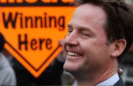 Nick Clegg Winning Here