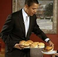 obama burger Michelle Obama: Just Say No Thank You  May I Please Be Excused To Tend To My Vegetable Plot?