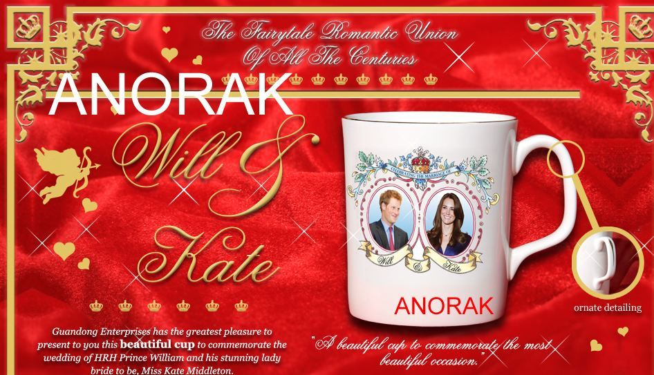 royal wedding mug fail. ROYAL Wedding Tat Watch spots
