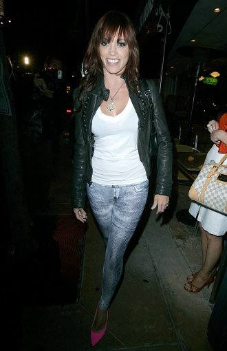 Pussycat Doll Member Jessica Sutta leaves a Party held at Mel's Diner on July 7, 2009 in West Hollywood, California.