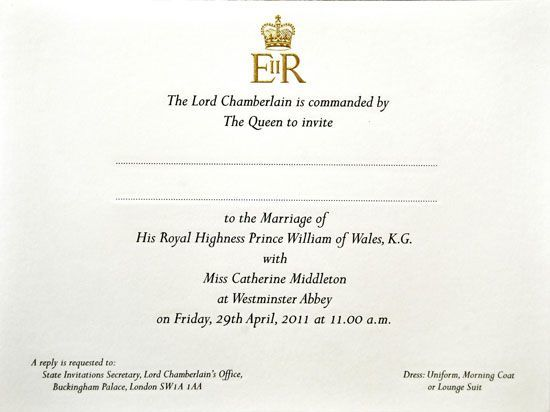 royalinvite The Trouble With Kate And Williams Wedding Invitation