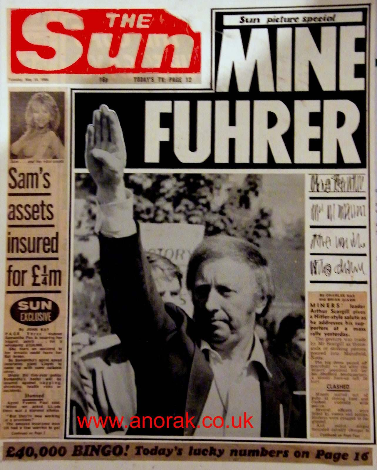 sun2 The Sun At 40: When Arthur Scargill Was Mein Fuhrer