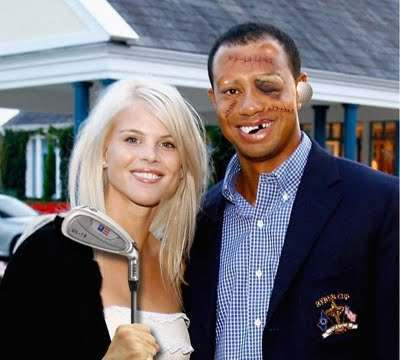 tiger woods face