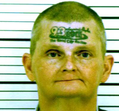 FACE tattoo mugshot of the day belongs to David Jonathan Winkelman of Iowa,