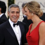 In photos – George Clooney, left, and Stacy Keibler at the 69th Annual Golden Globe Awards