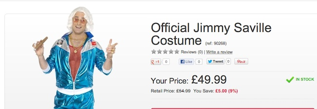 Stock Clearance: The Jimmy Savile Invisibility Shell Suit